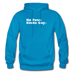 No Fuss Kinda Guy Gildan Heavy Blend Men's Hoodie - turquoise