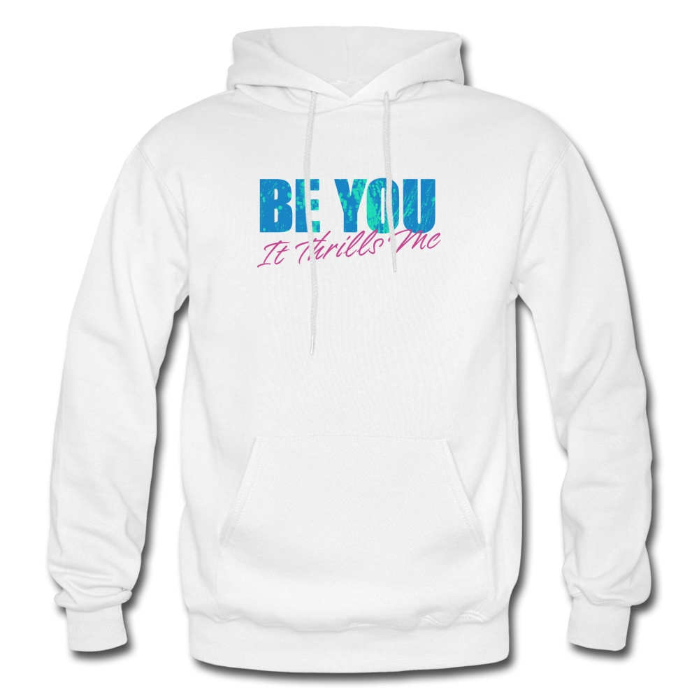 Be You Gildan Heavy Blend Men's Hoodie - white