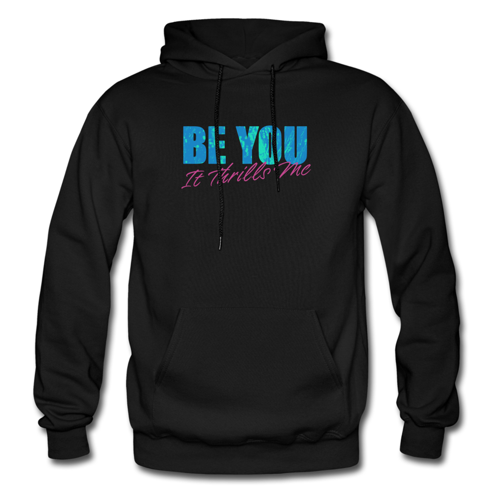 Be You Gildan Heavy Blend Men's Hoodie - black