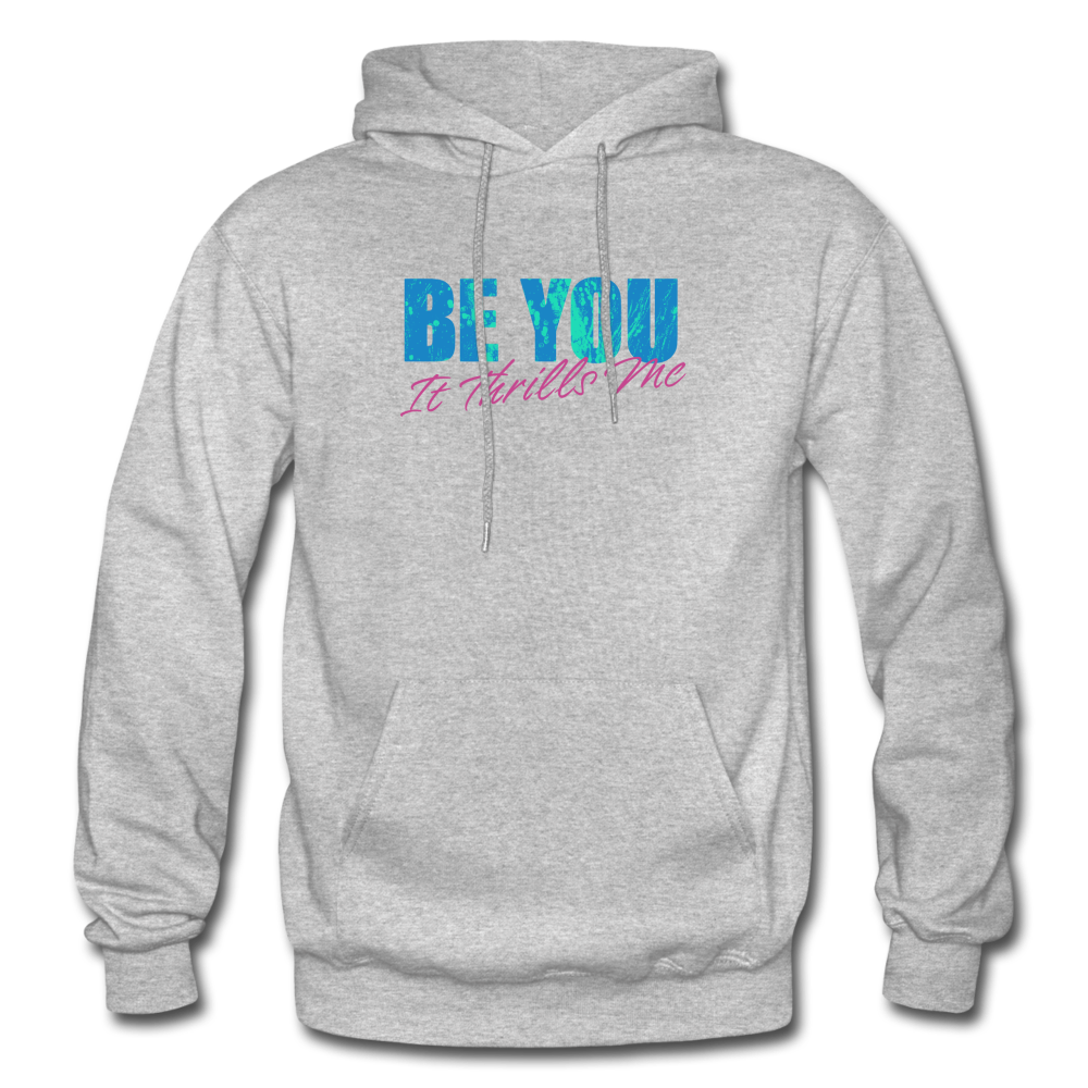 Be You Gildan Heavy Blend Men's Hoodie - heather gray