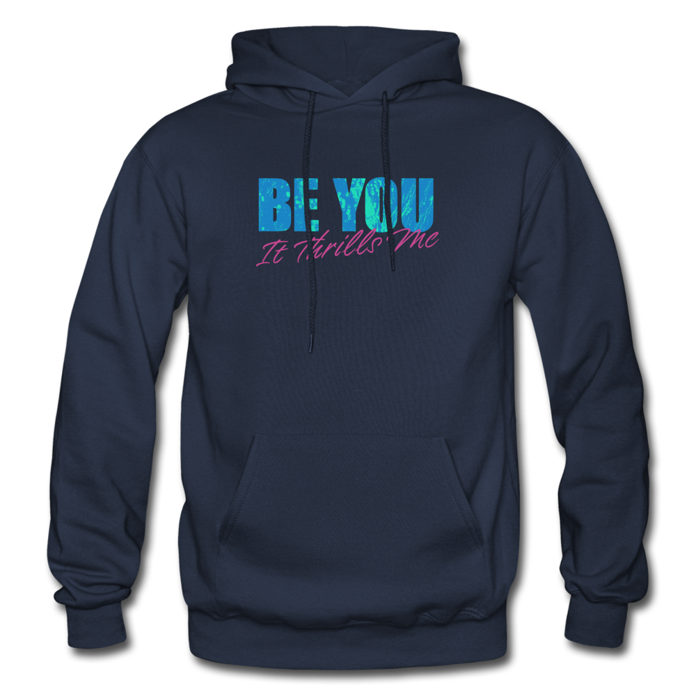 Be You Gildan Heavy Blend Men's Hoodie - navy