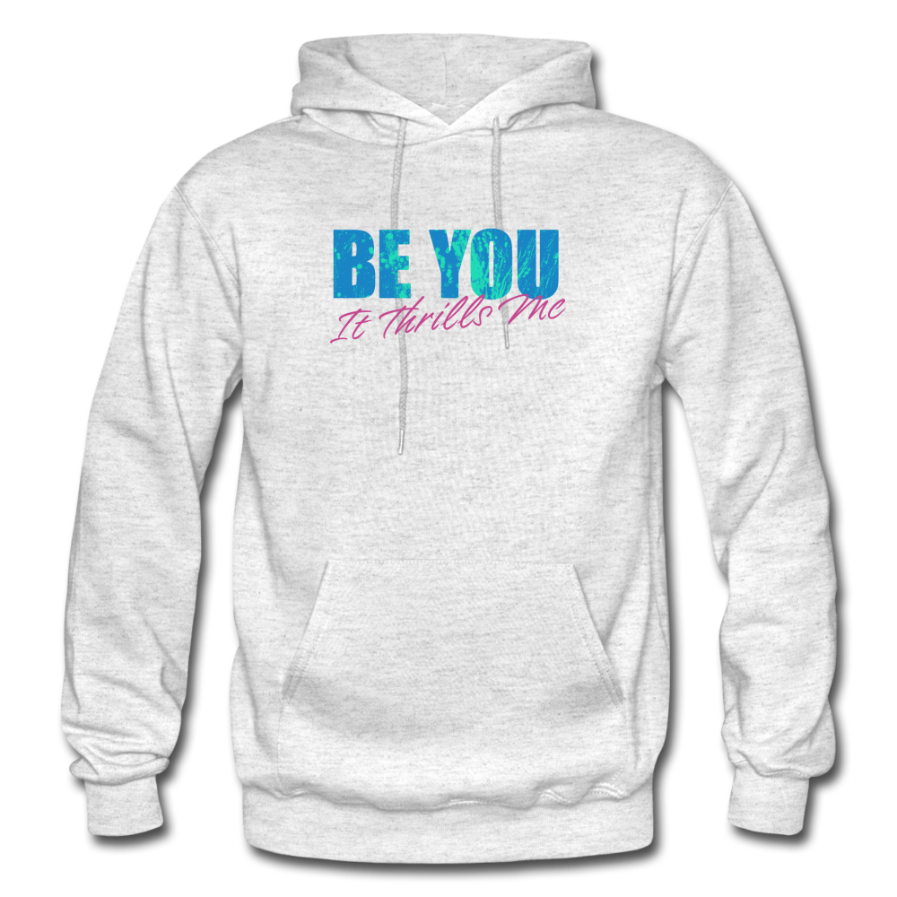 Be You Gildan Heavy Blend Men's Hoodie - light heather gray