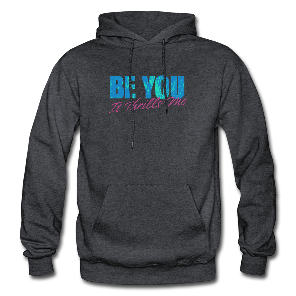 Be You Gildan Heavy Blend Men's Hoodie - charcoal gray