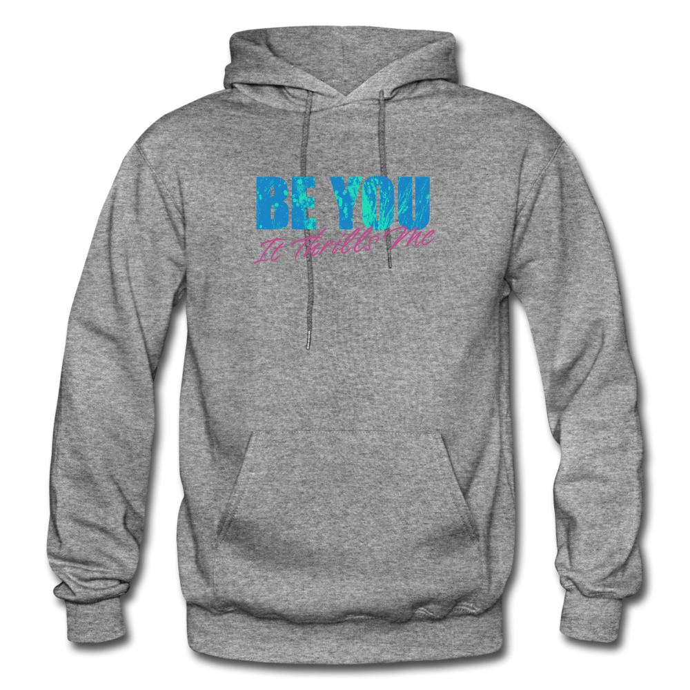 Be You Gildan Heavy Blend Men's Hoodie - graphite heather