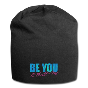 Open image in slideshow, Be You Jersey Beanie - black