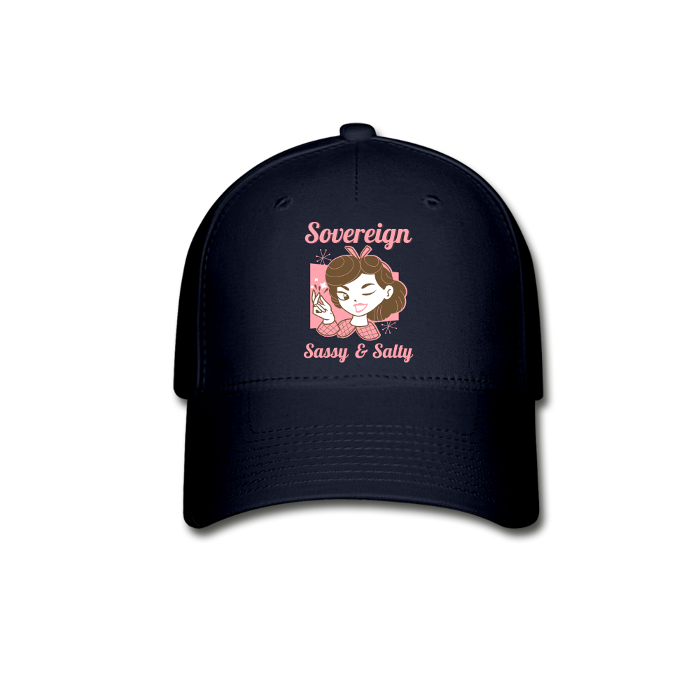 Sovereign Sassy Salty Baseball Cap - navy