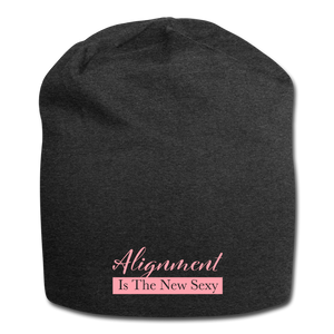 Alignment Is The New Sexy Jersey Beanie - charcoal gray