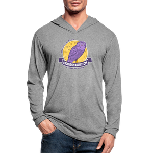 Open image in slideshow, Ascension Architects Unisex Tri-Blend Hoodie Shirt - heather gray