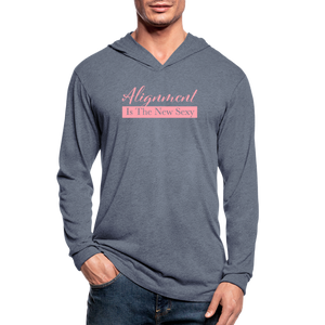 Alignment Is The New Sexy Unisex Tri-Blend Hoodie Shirt - heather blue
