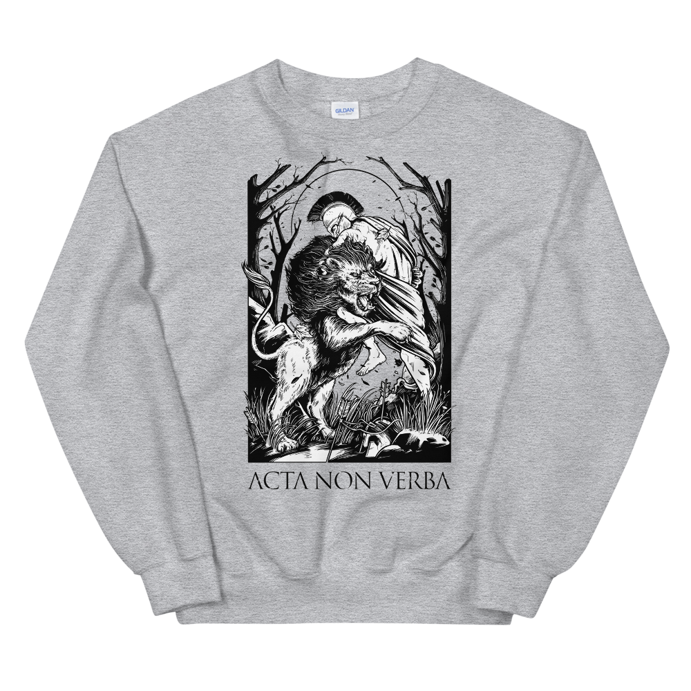 Acta non verba - Hercules and the Nemean Lion Sweatshirt