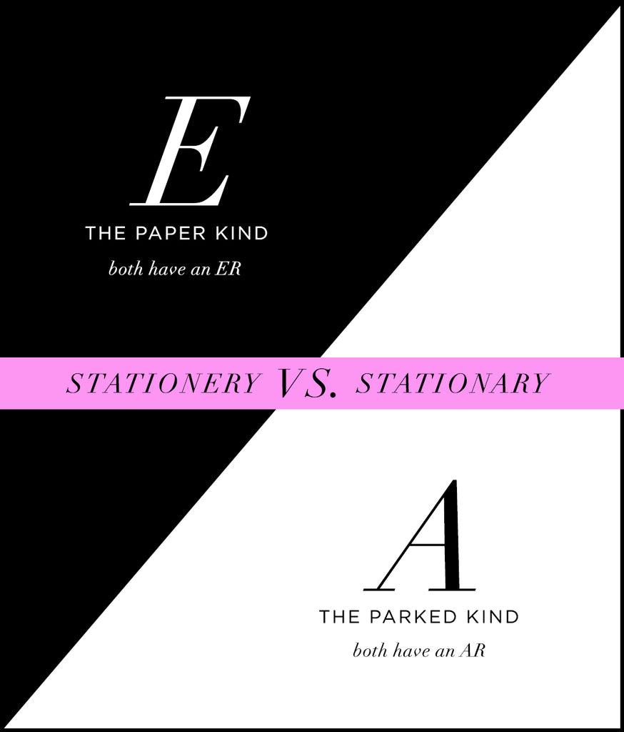 Stationery vs. Stationary