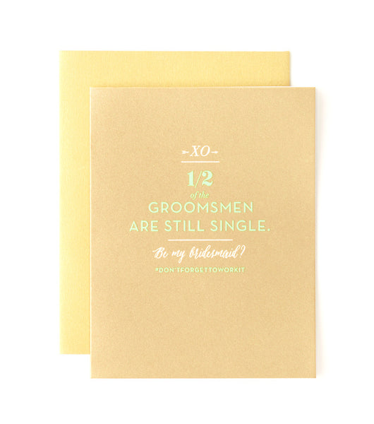 Bridesmaid Single Groomsmen