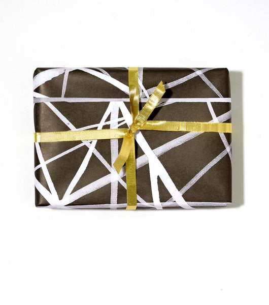 Overlap Ribbon Wrap | Black