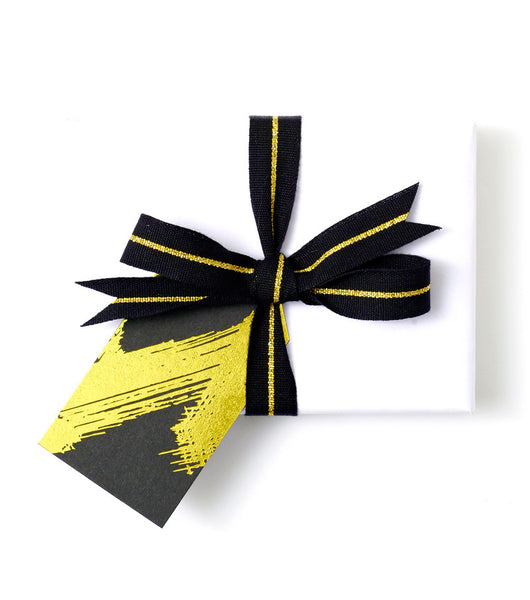 Brush Stroke Gift Tag Black