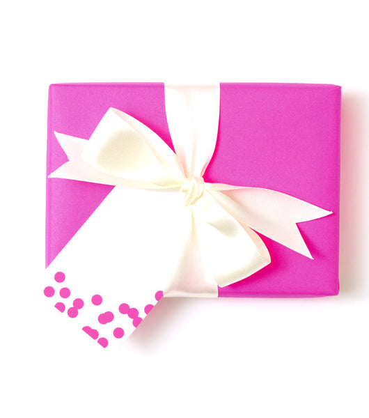 Confetti Gift Tag Pink