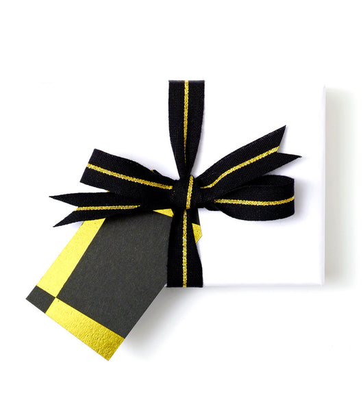 Geometric Gift Tag Black