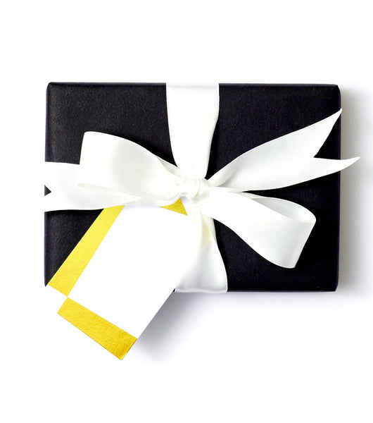 Geometric Gift Tag White
