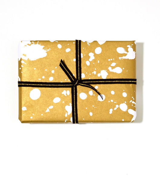 Splatter Paint Wrap | Gold