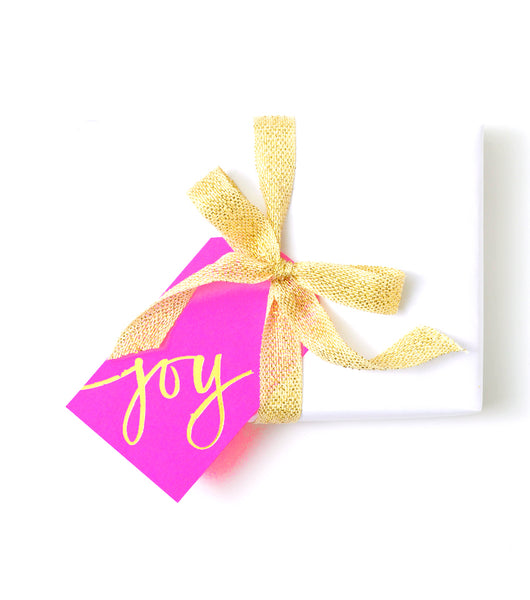 Joy Gift Tag Gold