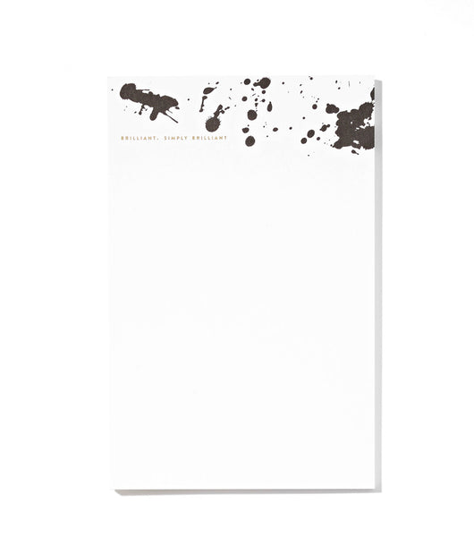 Large Brilliant Splashes Notepad