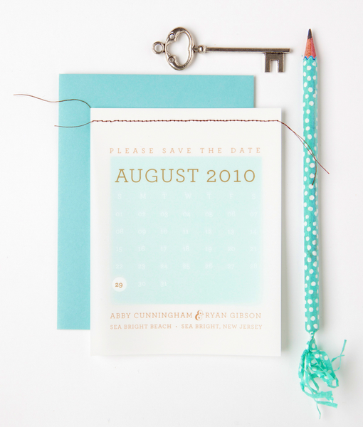Vellum Calendar Save the Date