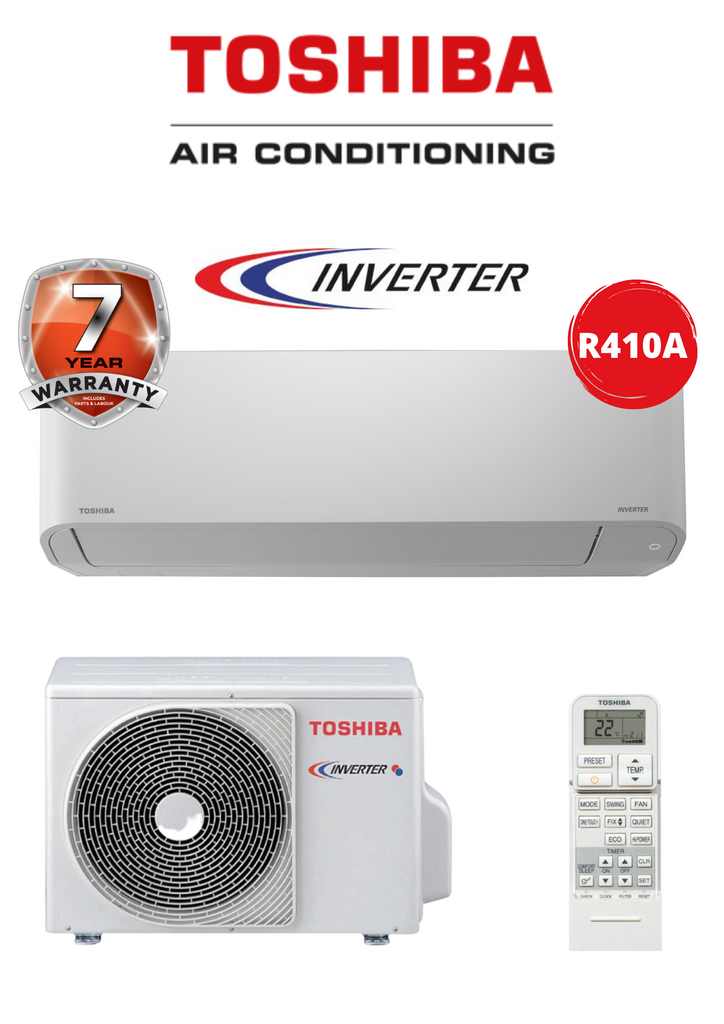 Toshiba 3.5KW Hi Wall Inverter Split - R410A