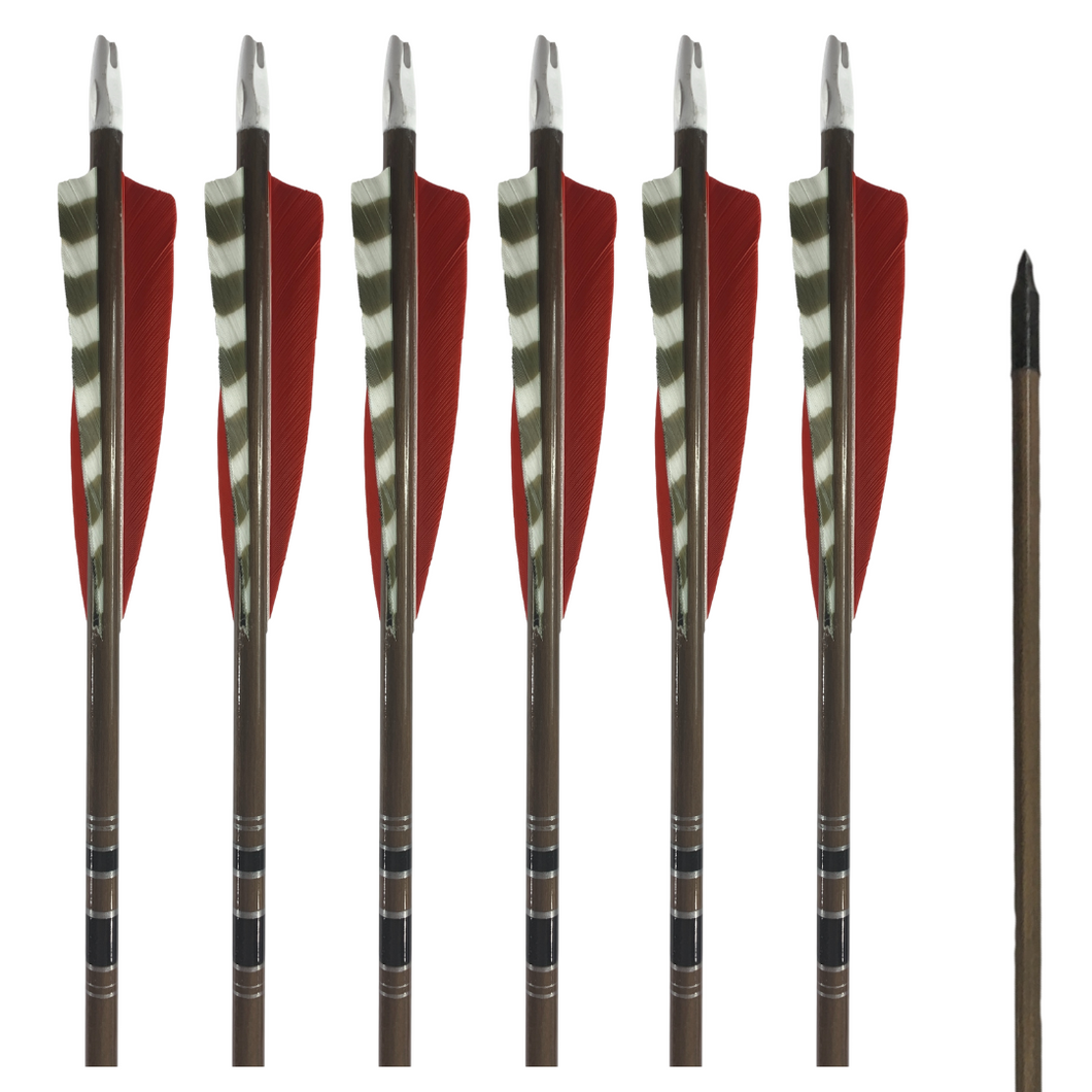 Classic Traditional Arrows - Dozen - Red