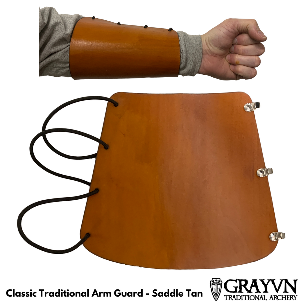 Classic Traditional Arm Guard - Saddle Tan
