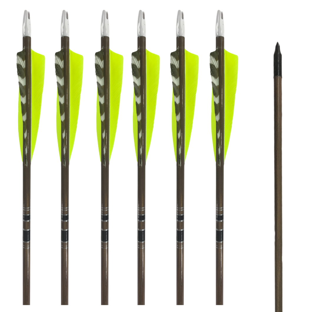Classic Traditional Arrows - Dozen - Chartreuse