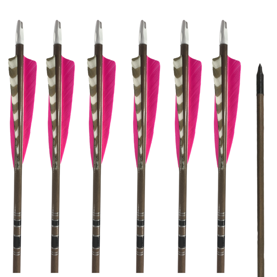 Classic Traditional Arrows - Dozen - Pink
