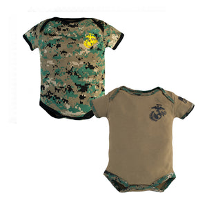 Marine Woodland and Desert 2 pack Baby Bodysuits