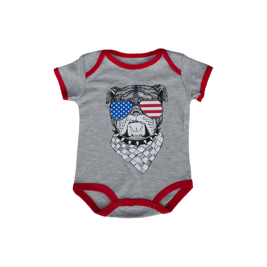 Patriot Bulldog Baby Bodysuit