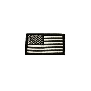 American Flag Patch Black and White