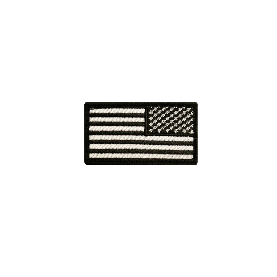 Reverse American Flag Patch Black and White