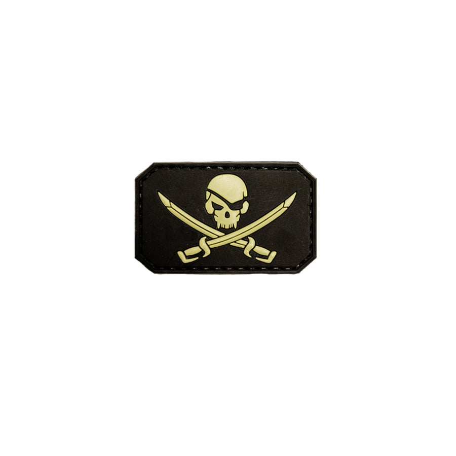 Jolly Roger Patch Black and Tan
