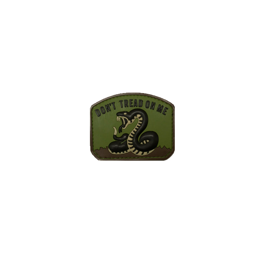Don't Tread on Me Patch Green PVC