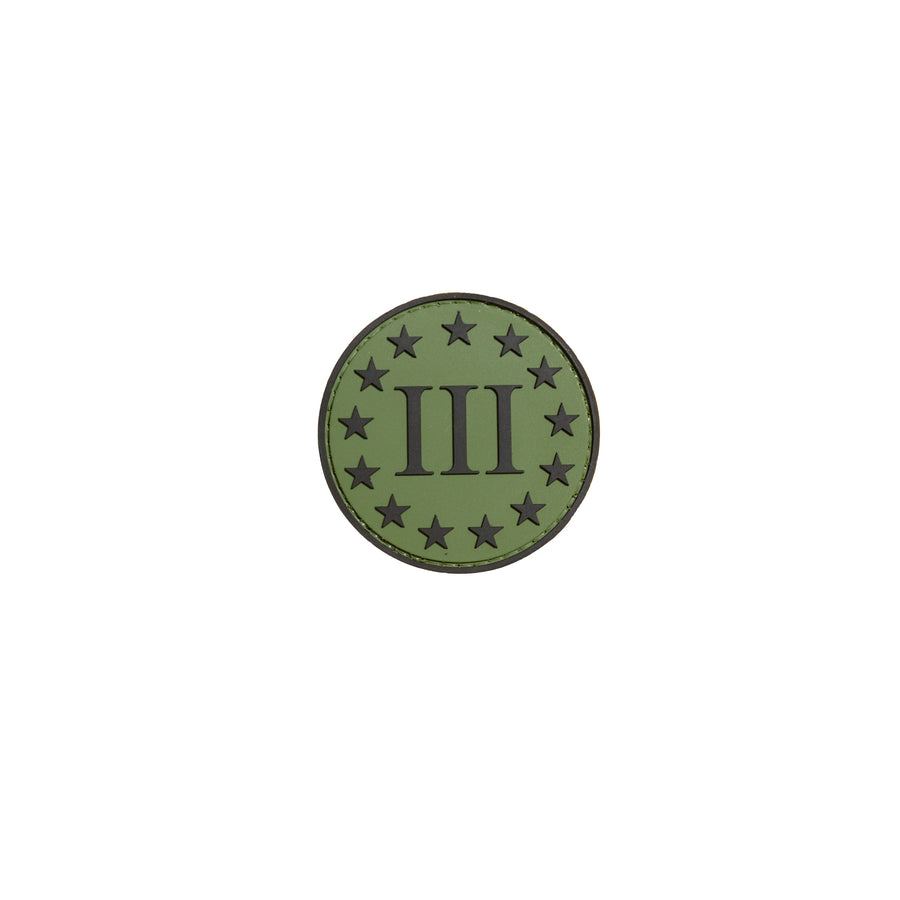 3% Round Green PVC Patch