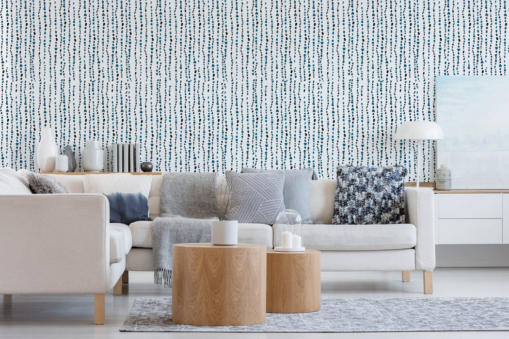 Removable Wallpaper Wall Mural Minimalistic Removable Wallpaper Simple Geometric Removable Peel and Stick Wallpaper Self Adhesive - A150