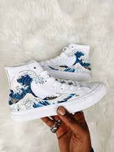 "Load image into Gallery viewer, Converse All Star High: ""The Great Wave"" (Junior)"