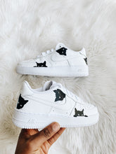 "Load image into Gallery viewer, Nike Air Force 1 ""Black Cat (LOKI)"" (Junior)"