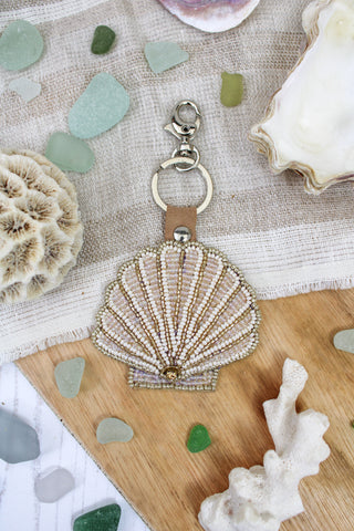 SEA SHELL BEADED KEYRING - PRE-ORDER
