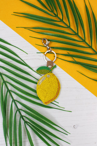 LEMON BEADED KEYRING - PRE-ORDER