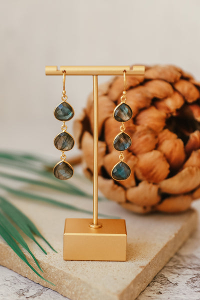 LABRADORITE TRIPLE DROP