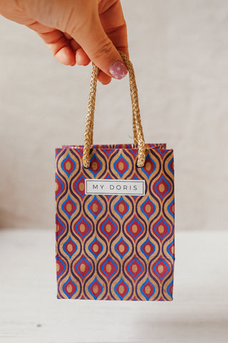 PURPLE AND GOLD GIFT BAG - PACK OF 10