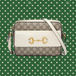 Gucci Epilogue Bag H Shoul S G.1955 Hors Gg Sup B.Ebony/M.White (64545492TCG9761)