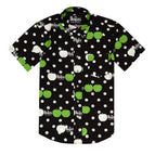Beatles CDG Shirt (Black with Green/White Apples)
