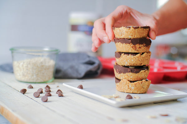Almond Butter Chocolate Oat Cups