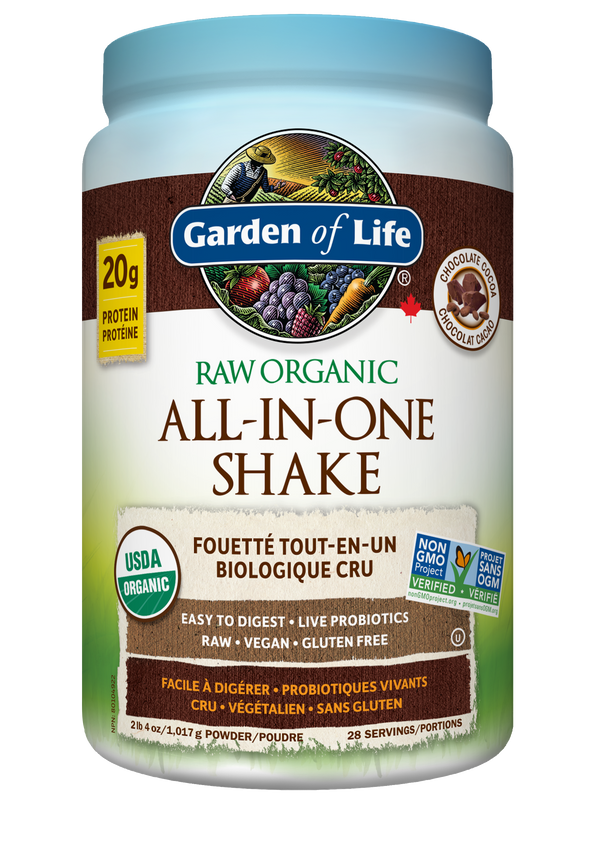 Raw Organic ALL-IN-ONE Nutritional Shake - Chocolate Cacao