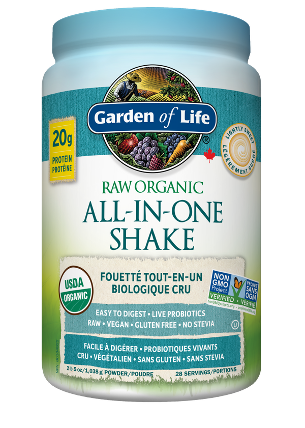 Raw Organic ALL-IN-ONE Nutritional Shake - Lightly Sweetened