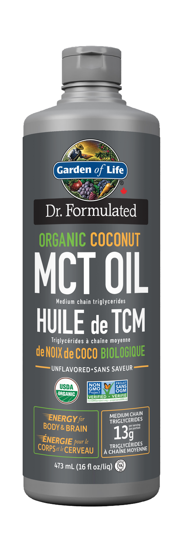Dr. Formulated 100% Organic MCT Oil